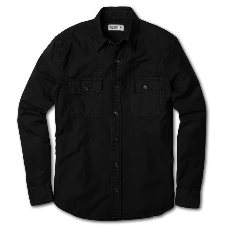 Black Army Shirt | Buck Mason