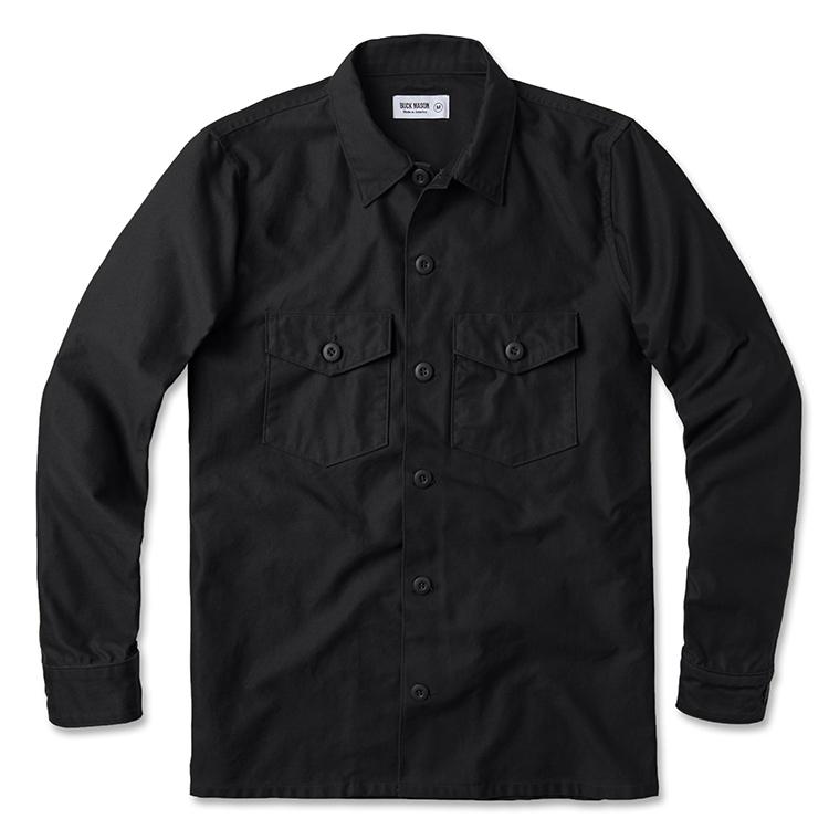 Black Military Overshirt | Buck Mason