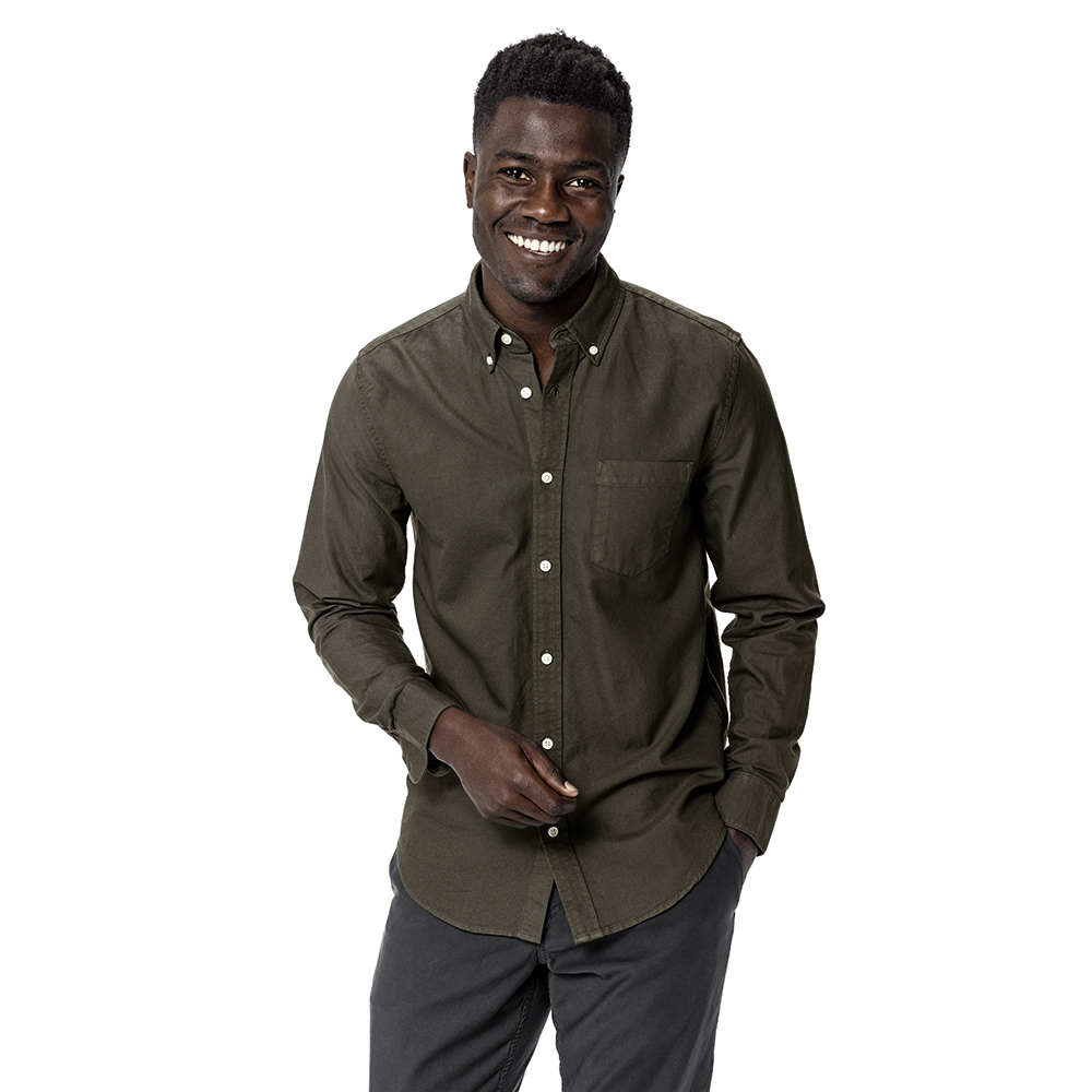 Olive Perfect Oxford One Pocket Shirt